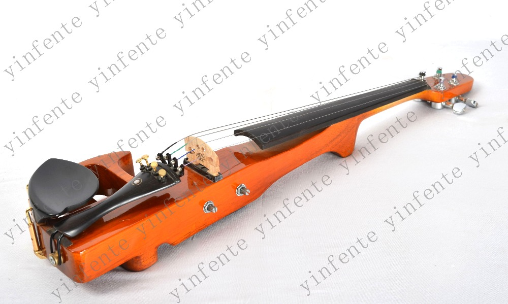 New 4  string 4/4 Electric violin Solid wood hand guitar  neck one 4 string 4 4 violin electric violin acoustic violin maple wood spruce wood big jack green color