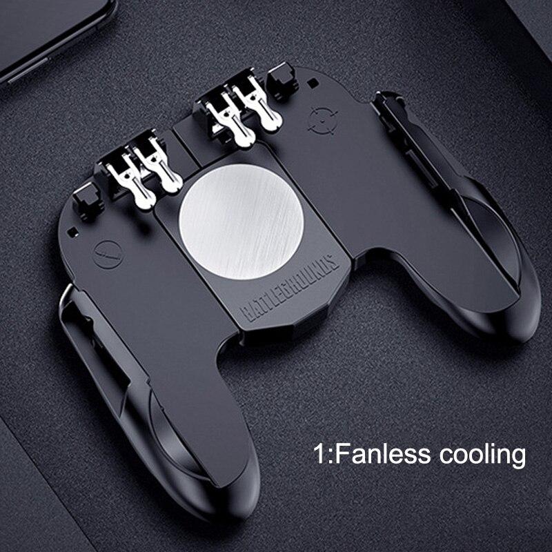 Image 3 - Контроллер для игровых приставок триггер кулер охлаждающий вентилятор Fire PUBG мобильный игровой контроллер Джойстик металлический L1 R1 триггер игровой аксессуар-in Геймпады from Бытовая электроника