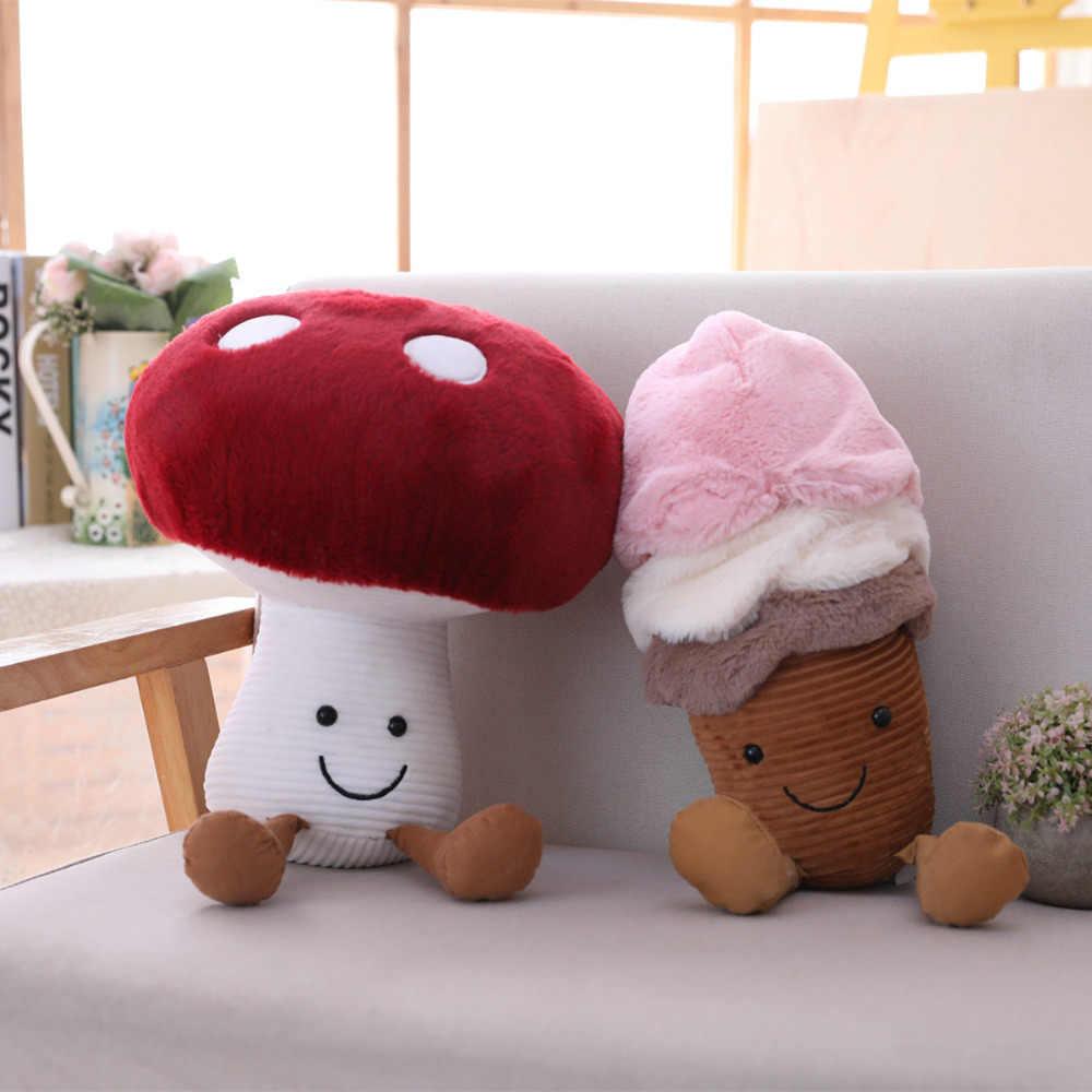 Cartoon awokado owoce pluszowe śliczne pluszowe grzyb zabawki wypchane lody śmieszne lalki dla dzieci dzieci prezent na Boże Narodzenie dziewczyny