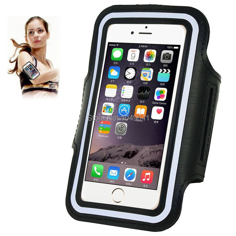 KIP6-1322B_1_Sport Armband Case with Earphone Hole & Key Pocket for iPhone 6 & 6S  HUAWEI Y3 II  ZTE Blade GF3  and Less than 4.7 inch Mobile Phone