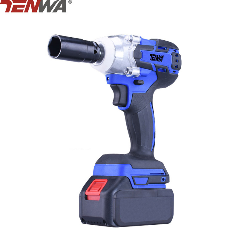 TENWA 21V 4500mAh Brushless Cordless Electric Wrench Impact Socket Wrench Li Battery Hand Drill Hammer Installation