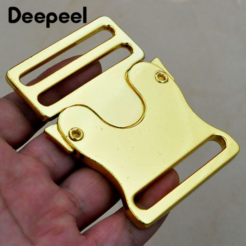 Deepeel 1pc/4pcs 50mm Metal Release Buckle For Backpack 39mm Webbing Strap Adjustment Buckle Clasp DIY Luggage HardwareAccessory