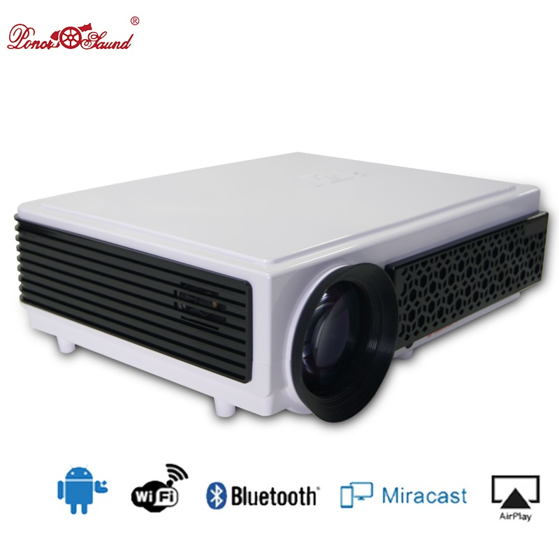 Poner Saund Led Hd Projector 5500 Lumens Beamer 1080p Lcd: Poner Saund Proyector Full HD Tv Led 3D Projector Home