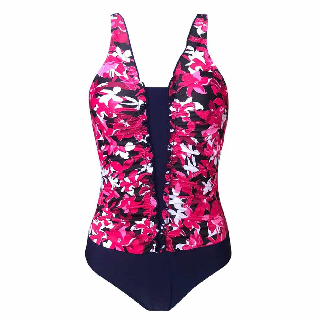 2019 Musim Panas Olahraga Luar Ruangan Pantai Wanita Renang Tankini Empuk Swimsuit Monokini Push Up Bikini Set Baju Renang