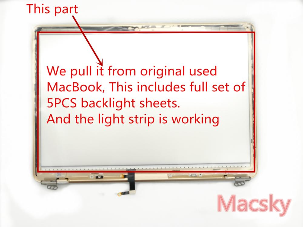 Used Original LED LCD Screen Display Back Rear Reflective Sheets for MacBook Pro 12 A1534 2015 2016 Backlight 100%Working for galaxy c5 pro color screen non working fake dummy display model gold