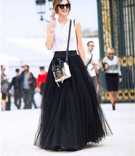 Знаменитости длинные юбки