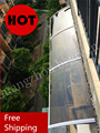 80x360 cm 31.5x140in YP80360-ALU porta de Alumínio suporte de policarbonato toldo, porta e janela da copa