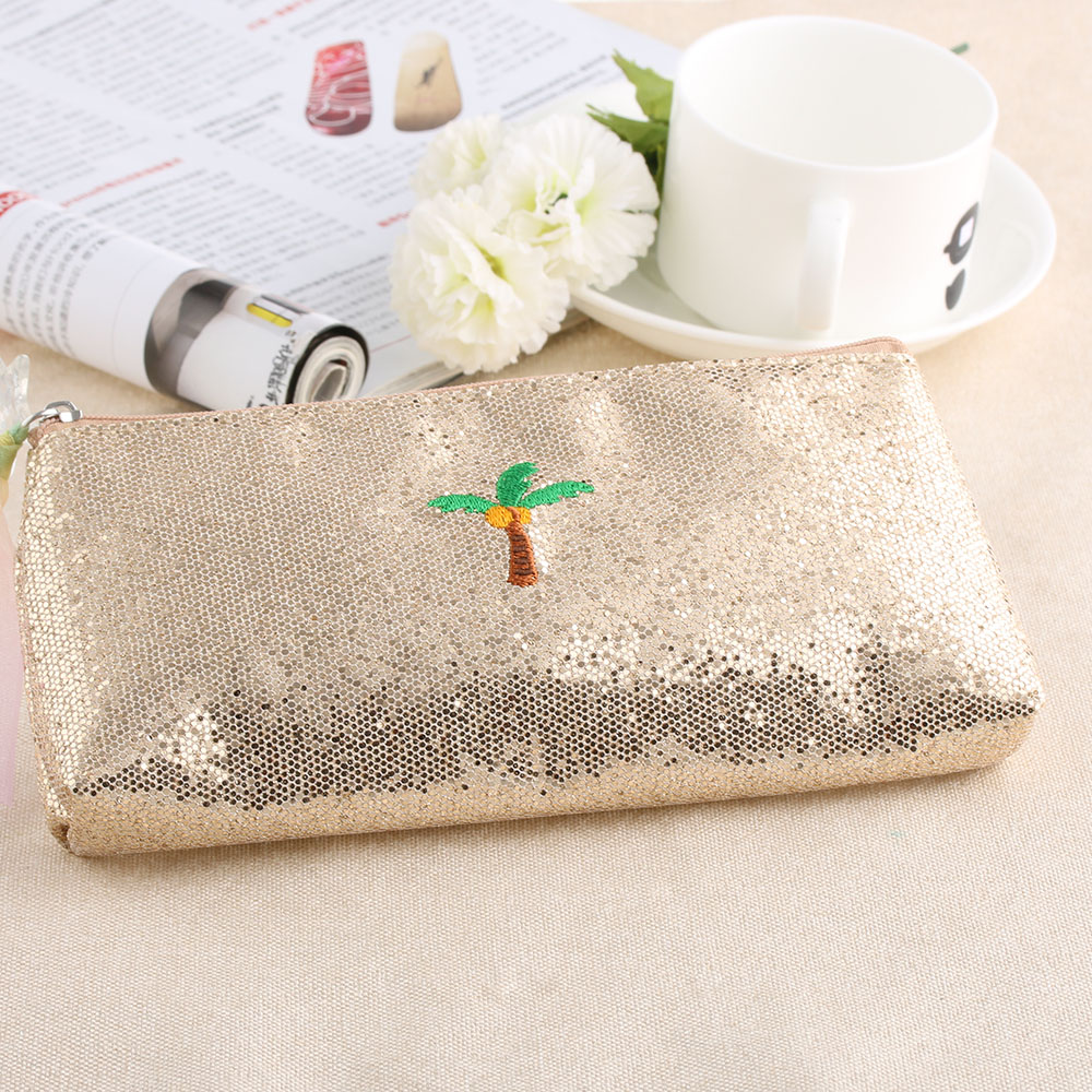 1pc Creative Shiny Women Cosmetic Bag Sequins Unicorn
