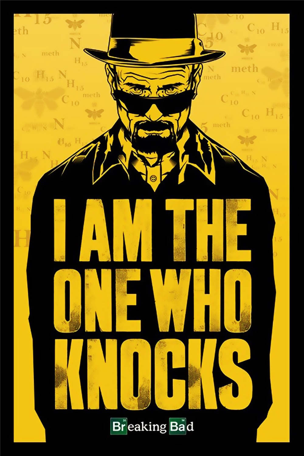 Free Shipping Custom I Am The One Knocks Poster Breaking Bad Wall Sticker Fashion Home Decoration Well Design Wallpaper 0335 In Stickers From