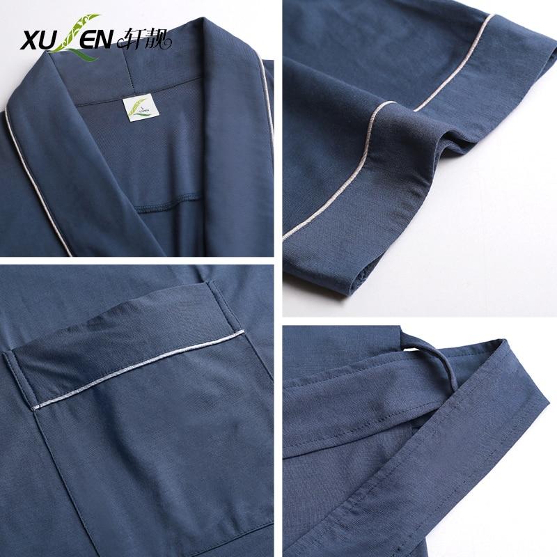 Männer nachtwäsche modal bad robe kimono bademantel sommer dressing kleid kurzarm schlaf und lounge männliche hause nacht tragen