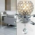Bola de Cristal moderna Lâmpada de Parede de cabeceira Quarto lâmpada de parede Da Escada luz E14 arandela Levou lamparas pared de ouro prata interior iluminação