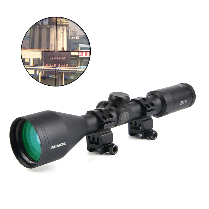 Minox ZV 3 3-9X50 Tactical Scopes Riflescopes Long Eye Relief Rifle Scope Hunting Scopes For Airsoft Sniper Rifle marcool 4 16x44 side focus front focal plane optical sights rifle scope hunting riflescopes for tactical gun scopes for adults