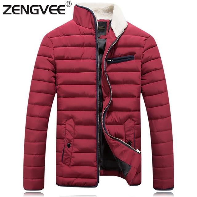 Hombres Chaqueta de invierno 2017 Moda Casual Caliente de la Cremallera Para Hombre de la Chaqueta Y Abrigos Gruesos Abrigos Rompevientos Outwear Para Los Hombres