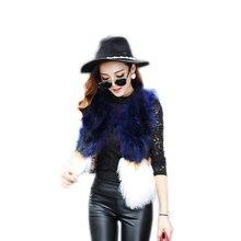 2019 European station new raccoon fur vest short style wool sheep  fur coat female Slim vest