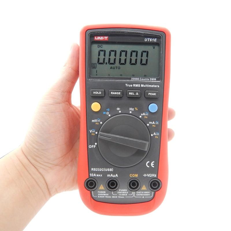 UNI-T UT61E High Reliability Digital Multimeter Modern Digital Multimeters AC DC Meter CD Backlight & Data Hold Multitester uni t ut60b modern auto ranging data hold dmm digital multimeters w capacitance