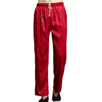 Brand New Red Chinese Men S Kung Fu Trousers Satin Kung Fu Pant Tai Chi Pants