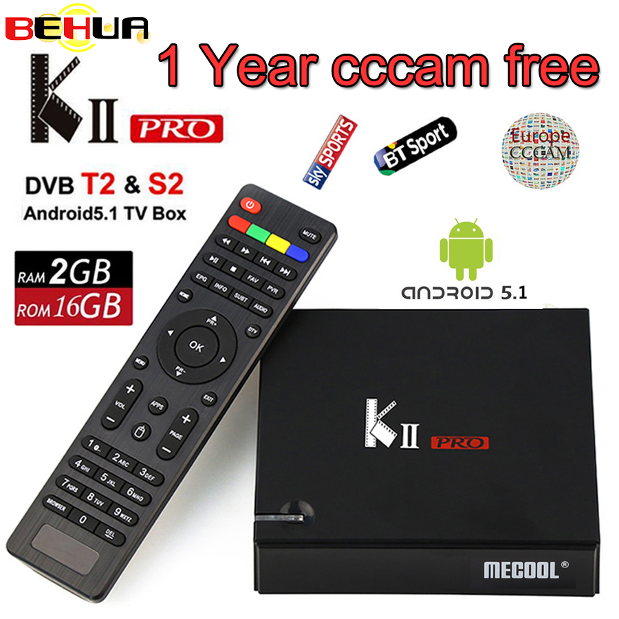 KII PRO DVB S2 T2 Android TV Box 2GB 16GB DVB-T2 DVB-S2 Android 5.1 Amlogic S905 Quad-core WIFI K2 pro 4K Smart set top TV Box