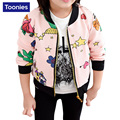 2017 New Children Clothing Baby Girls Fashion Baseball Coat Kids Jacket Baseball Clothes Outwear Spring Autumn Girls Coat