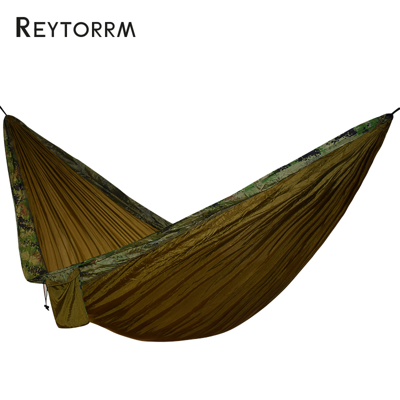 Outdoor Camping Survival Hammock Portable Sleeping Tree Bed For 1-2 Person Durable Hanging Hamak Camouflage 270*140cm