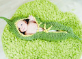 baby acrylic wool bean sleeping bag photography props