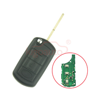Flip remote key 3button 434Mhz HU101 uncut blade with ID44 PCF7935 chip for Land rover LR4 Range rover