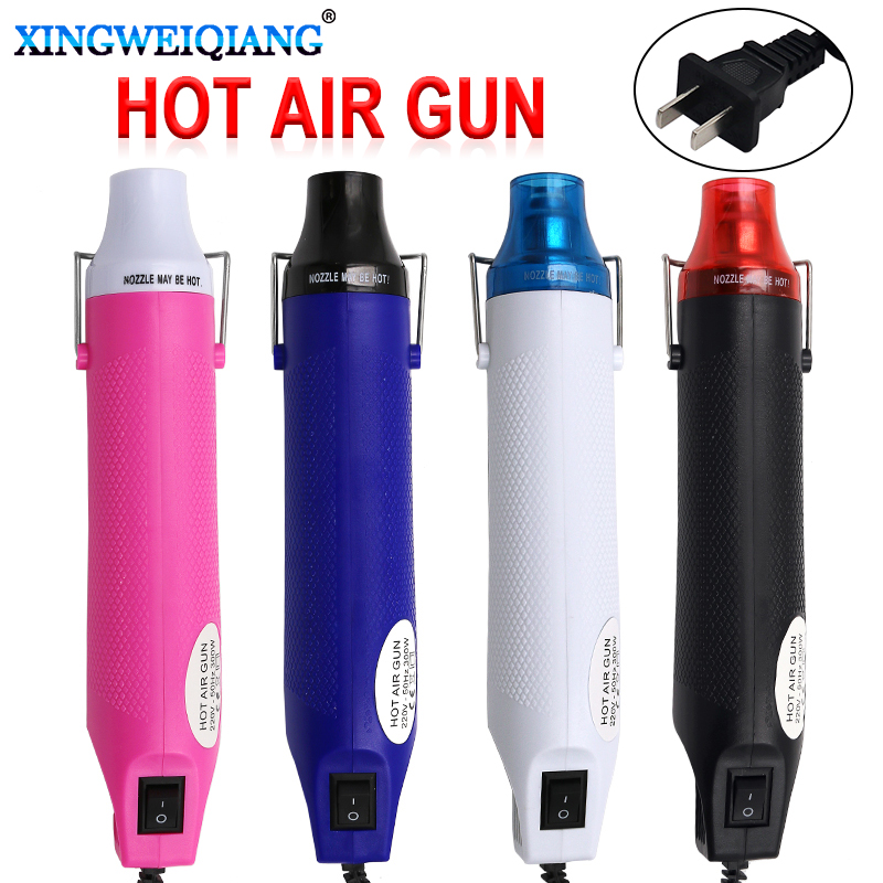 220V 300W Heat Gun US Plug Industrial Electric Hot Air Gun Kit Professional Heatguns Shrink Plastic Wrap Blower Heater