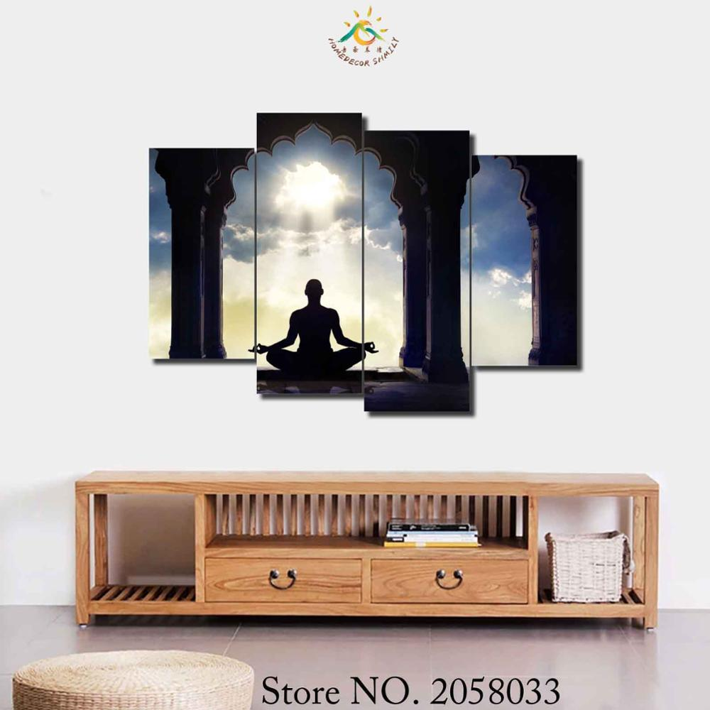 3 4 5 Pieces Ashram Experiences Poster Modern Printed Painting On Canvas Home Pictures Prints Home Decorative Posters in Painting Calligraphy from Home Garden