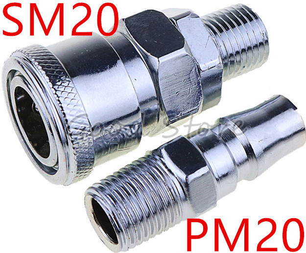 SM20 PM20 1/4''PT <font><b>Pneumatic</b></font> <font><b>Air</b></font> Compressor Hose Quick Coupler Plug Socket <font><b>Connector</b></font> image