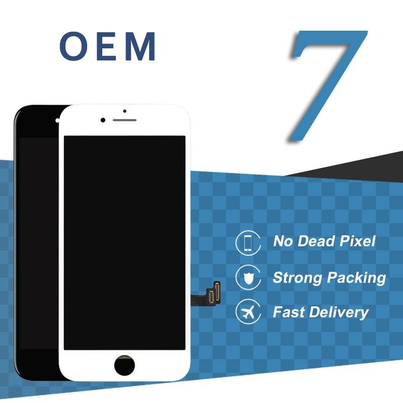 5 pcs pièces de rechange de remplacement de téléphone portable pour iPhone 7 7G LCD écran tactile Premium ESR pas de Pixel mort affichage numériseur assemblée