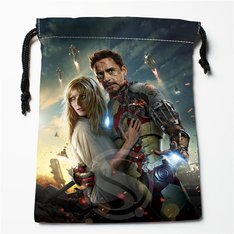W-119 New Captain America Avengers Custom Logo Printed  Receive Bag  Bag Compression Type Drawstring Bags Size 18X22cm E801EU119