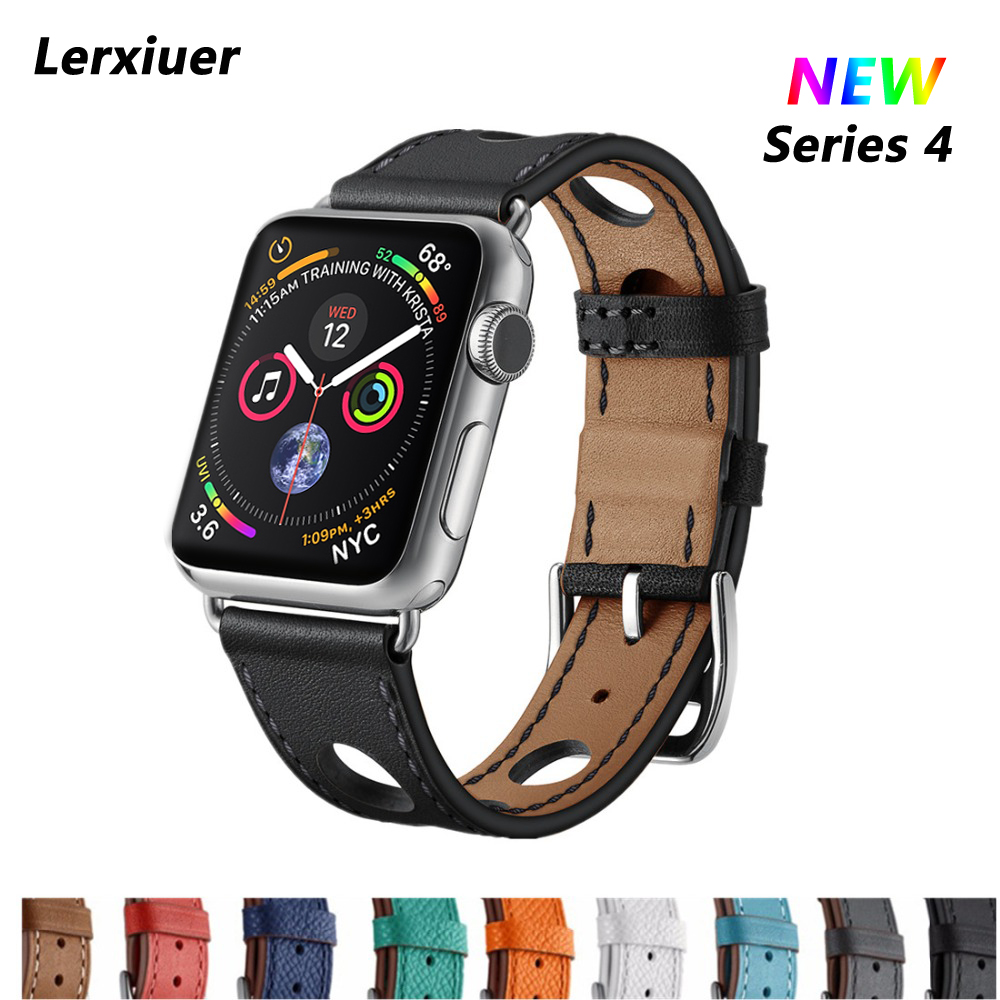 Leather Single Tour strap For Apple Watch 4 band 44mm 40mm correa 42mm 38mm iwatch series 3 2 1 wrist bracelet belt watchband for apple watch band 4 44mm 40mm leather strap correa 42mm 38mm bracelet wrist watchband iwatch series 4 3 2 1 replacement belt