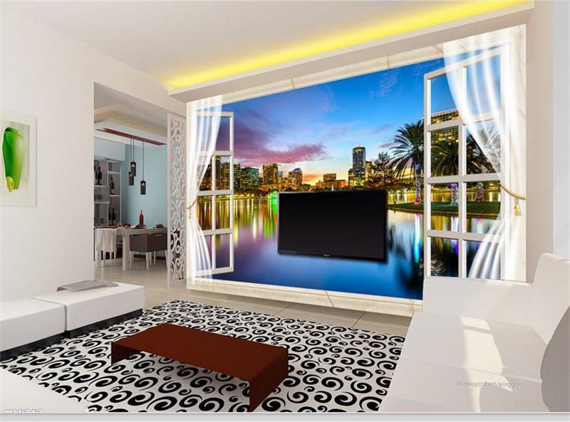 Beibehang Fashion 3d Big Mural Wallpaper Hd Balcony Window: Popular Windows Live Wallpaper-Buy Cheap Windows Live