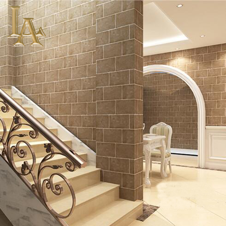 Hoge kwaliteit bruin bakstenen muur promotie winkel voor hoge ...