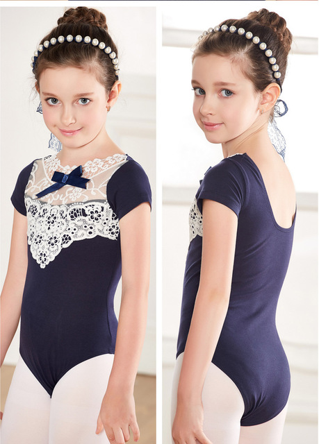 d3ff55c47 Hollow Lace Rhythmic Gymnastic Leotard Ballet Dress Girls Leotard ...