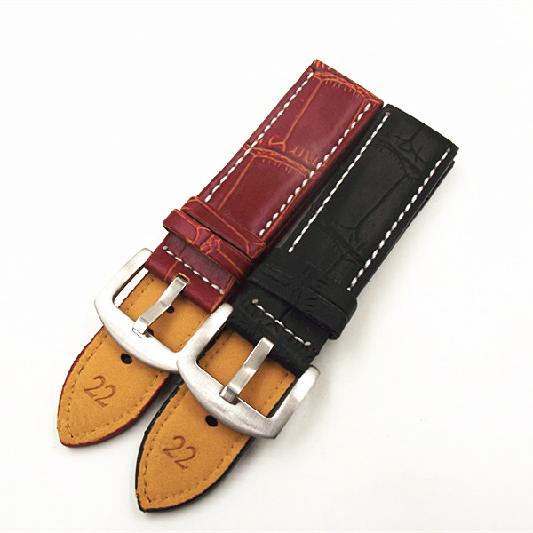 High quality PU leather 1PCS watch strap 18mm 20mm 22mm 24mm 26mm 28mm 30mm watch band black brown tjp 1pcs 18mm 20mm 22mm 24mm 26mm green khaki black brown genuine crazy horse leather bracelet nato watch strap bands
