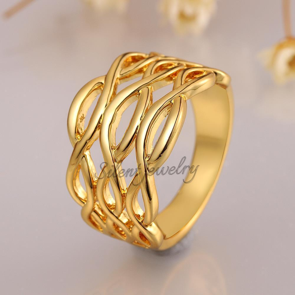 Simple Gold Ring Design For Female Without Stone