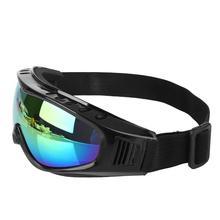 Лыжные очки ПК объектив Анти-УФ ветрозащитный Анти-туман песок защитный зимний