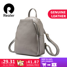 f97bc0d0764d (Отправка из RU) REALER бренд женский модный рюкзак высокого качества из  натуральной кожи, школьный рюкзак для девочек подростков, маленький рюкз.
