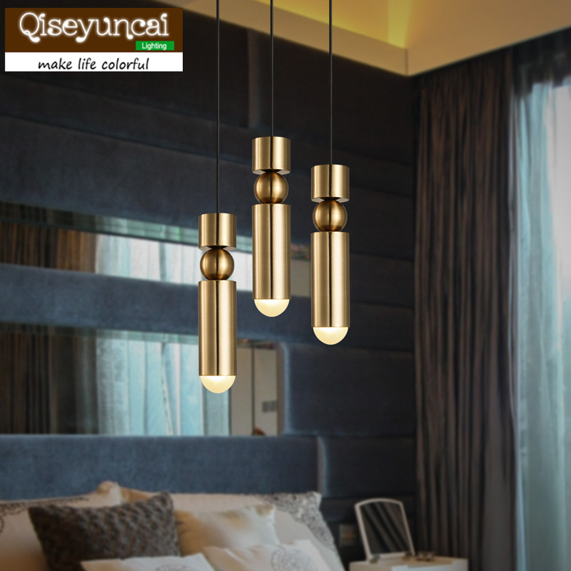 European fashion creative chandelier modern simple bullet gold plated dining room bedroom living room small hanging lamp european restaurant crystal chandelier simple ball bedroom modern simple led creative living room lighting dining room
