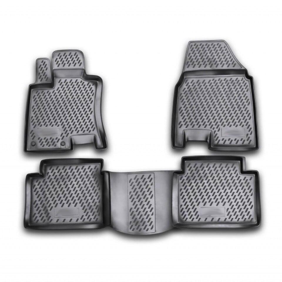 For Nissan Qashqai+2 2007-2014 floor mats into saloon 4 pcs/set Element CARNIS00023 for haval h6 fwd 2014 2019 3d floor mats into saloon 4 pcs set element element3d9922210k