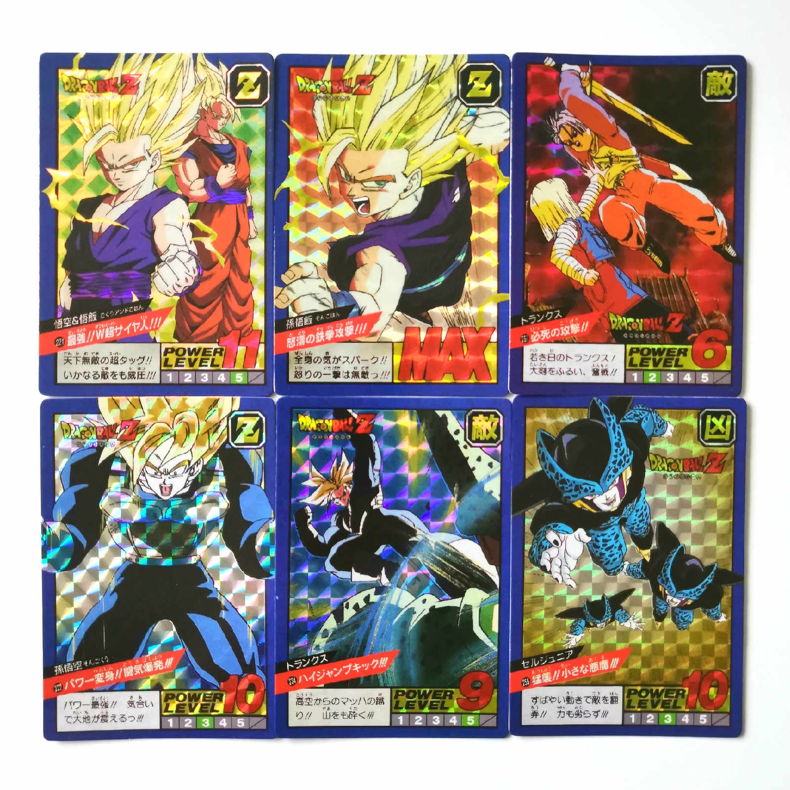40pcs/set Super Dragon Ball Z Fighting 6 Reissue Heroes Battle Card Ultra Instinct Goku Vegeta Game Collection Cards
