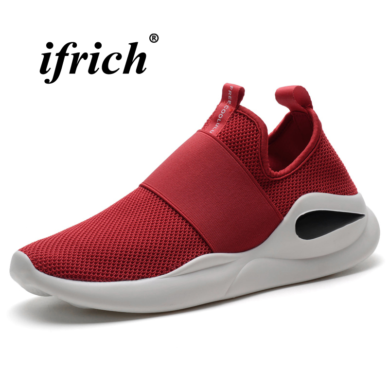 Male Gym Shoes Black White Man Running Shoes Spring Summer Athletic Footwear Male Slip-on Breathable Man Sneakers for Sport
