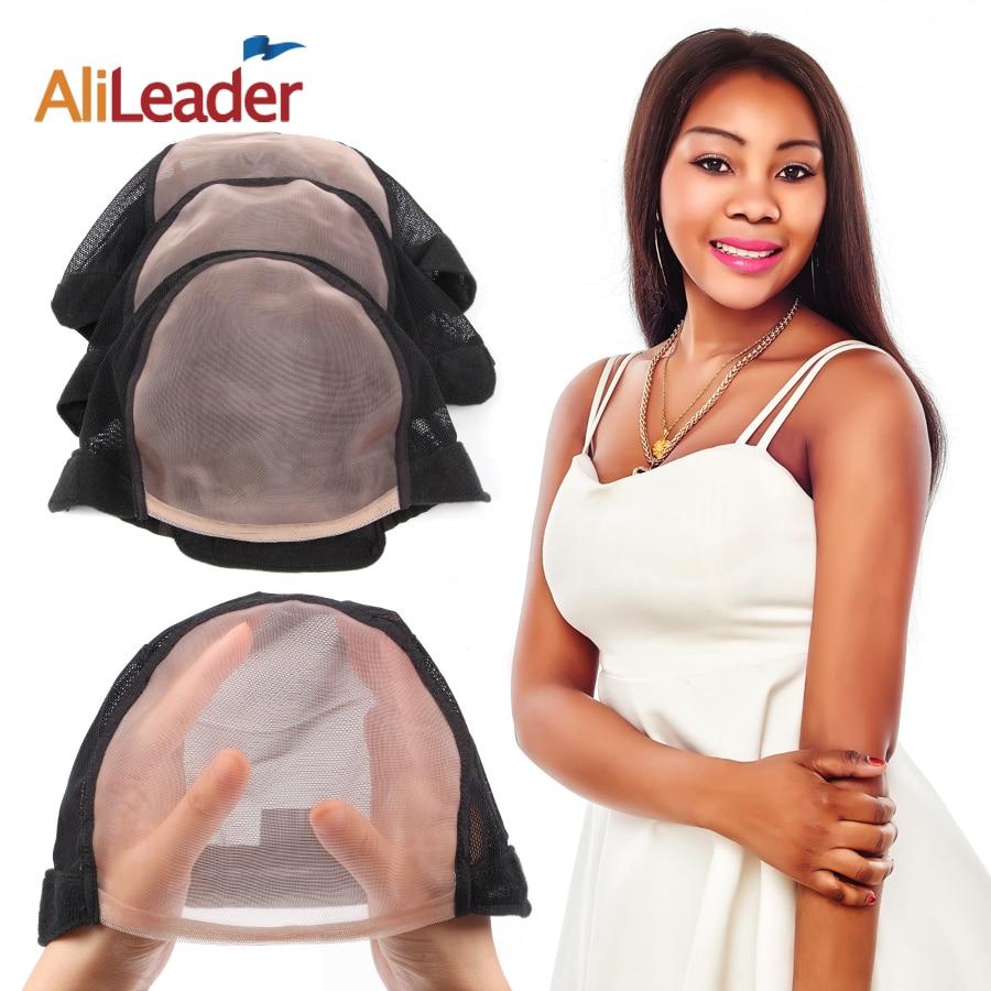 10Pcs Lot Wholesale 5 5 U Part MONO Wig Caps For Make Wigs Glueless Full Lace