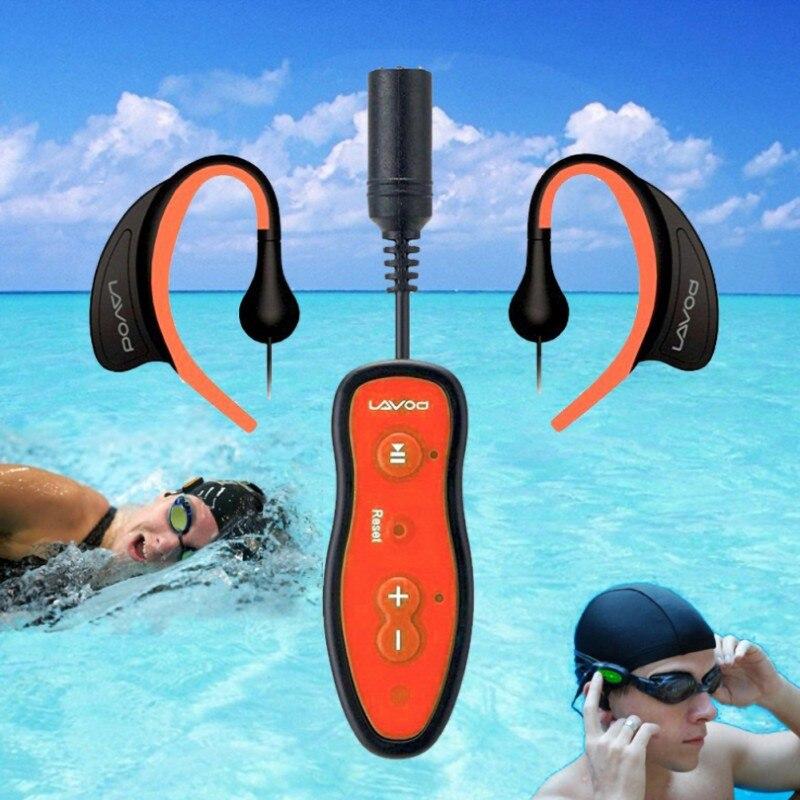 Mais novo 8 gb ipx8 à prova dwaterproof água mp3 player de música natação mergulho fone ouvido esporte estéreo baixo nadar mp3 com clipe
