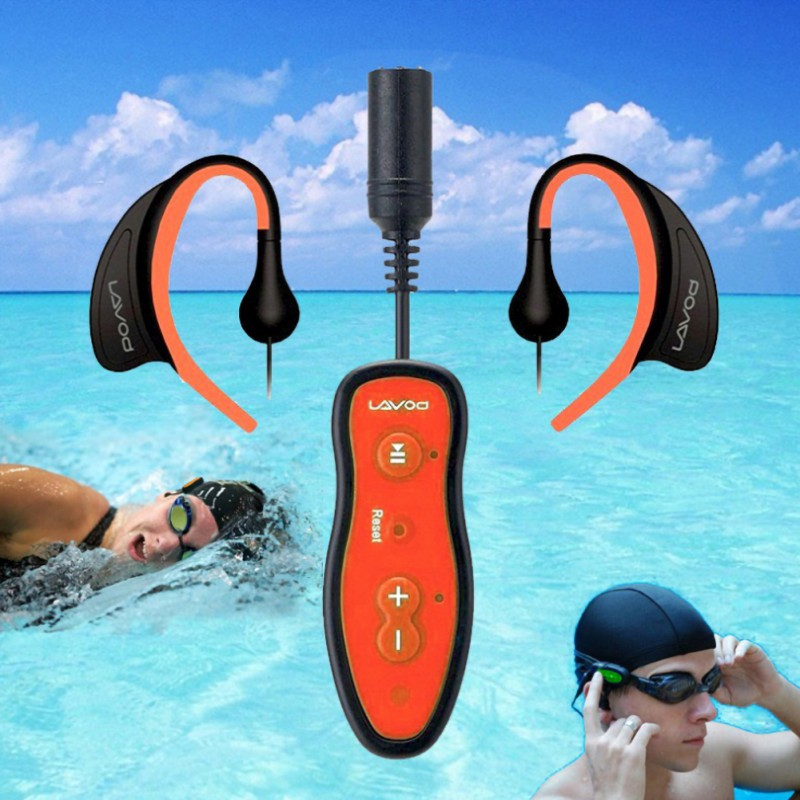 Newest 8GB IPX8 Waterproof MP3 Music Player Swimming Diving Earphone Headset Sport Stereo Bass Swim MP3 With Clip