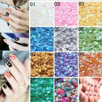 1 box AB Color Flakes Nail Sequins Ultra Thin Star/Flower/Triangle Slider for Flakes Glitter Nail Art Decor UV Gel DIY image