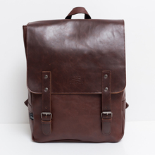 2020 Hot! Men and women fashion PU leather backpack school bag popular style orange bags and shoulder school backpacks for women