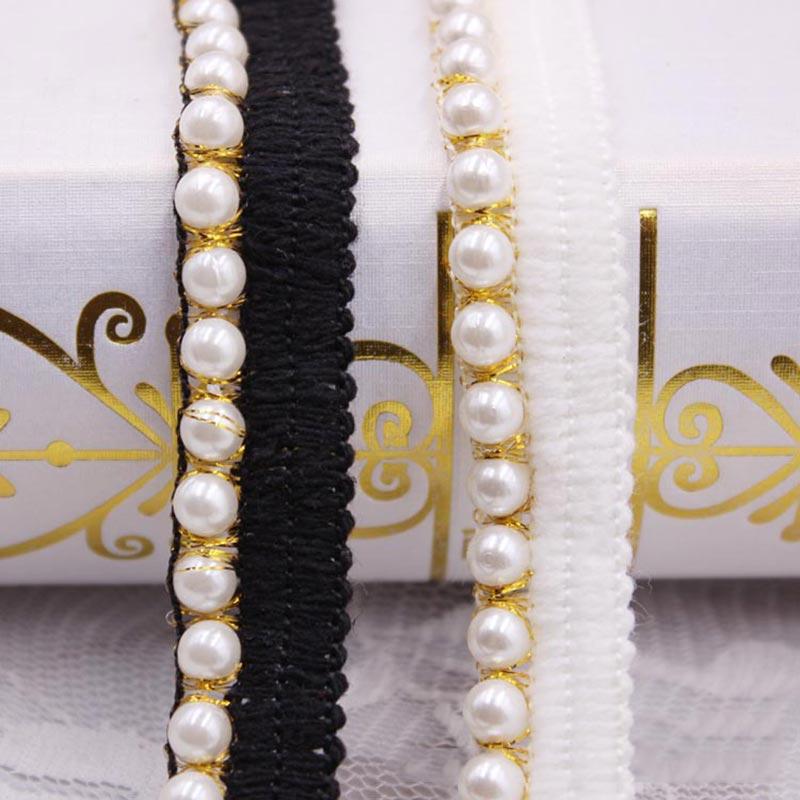 7CM White Pearl Ball Tassels Handmade Beaded Lace DIY Clothing Accessories Wedding Dress Skirt Collar Curtain Decoration Tassel