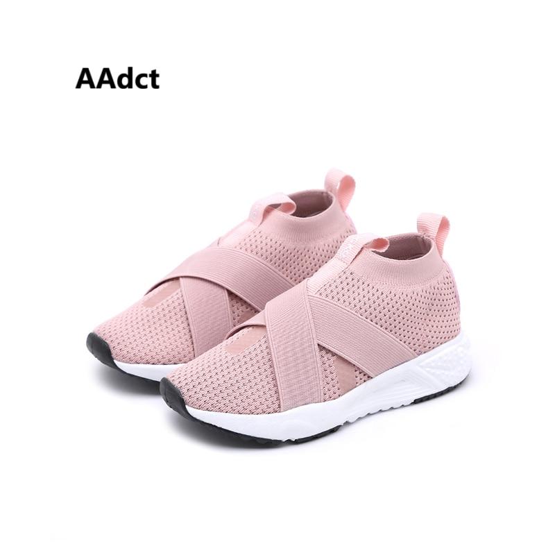 AAdct 2018 tejer zapatos de malla de los niños Marca suave niñas - Zapatos de niños