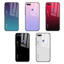 Gradiënt Gehard Glas Case Voor Honor 7C Covers Op Voor Huawei Honor 7A Pro C7 A7 Pro 7 Een C 7Apro 7Cpro Y5P Y6P P40 Lite E Coque
